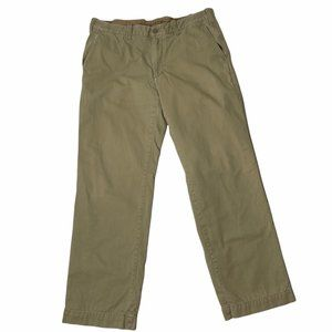 Eddie Bauer Flannel Lined Khaki Pants 36x34 Insulated Camping Hiking